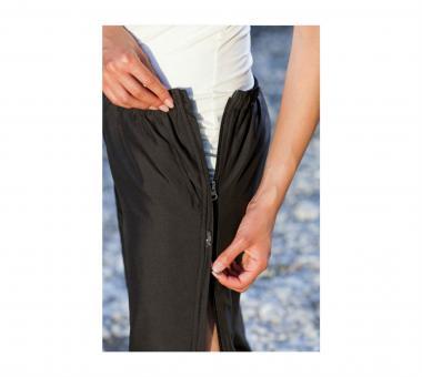 Damen Reha-Hose für Kur, nach OP oder Sport mit durchgehendem Reißverschluss Schwarz | 23 kurz