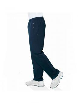 Jogginghose aus 100% Baumwolle, gerader Beinverlauf mit 2 Reißverschlusstaschen