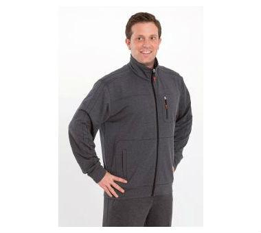 Hochwertige Herren Trainingsjacke von Authentic Klein. Bis zu 10x XL lieferbar! anthrazit meliert | 56