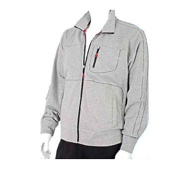 Hochwertige Herren Trainingsjacke von Authentic Klein. Bis zu 10x XL lieferbar! Silber meliert   106 lang