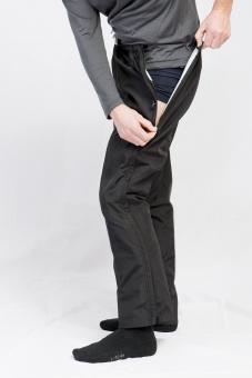 Herren Reha-Hose für Kur, nach OP oder Sport mit durchgehendem Reißverschluss Schwarz | 106 lang